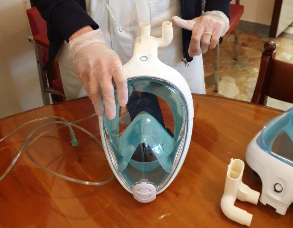 Servono maschere subacquee Decathlon da consegnare agli ospedali