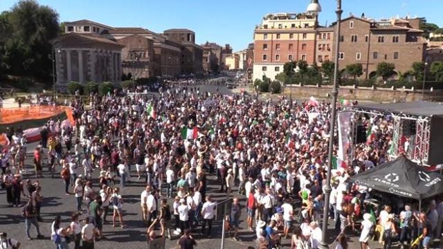 Riflessione sulla manifestazione No Mask a Roma